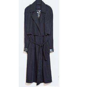 Zara slinky trench coat navy